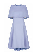 Load image into Gallery viewer, Capelet and Showstopper Cornflower Blue Wool Crepe