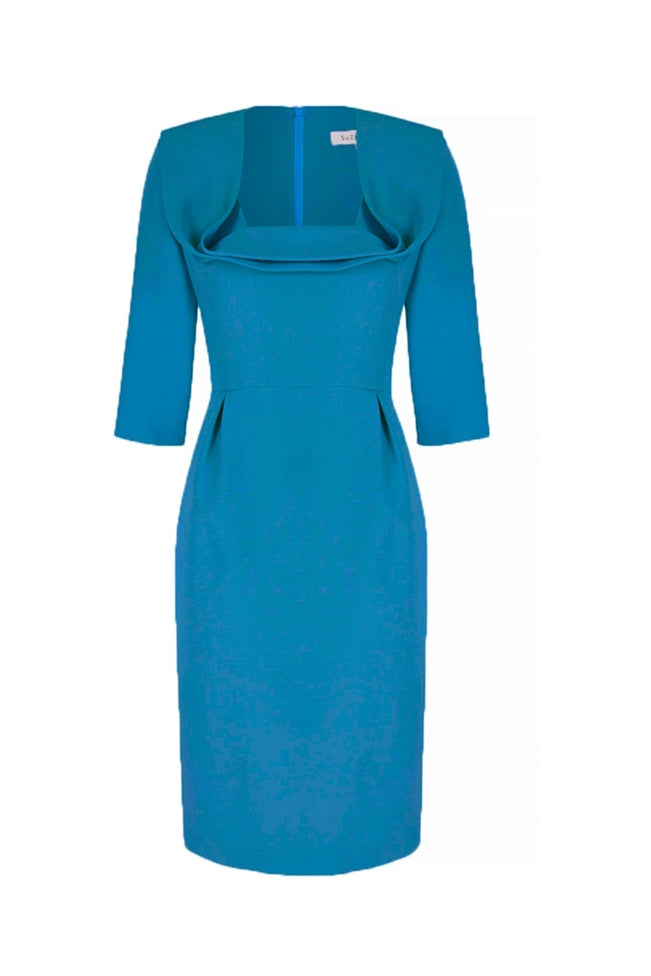 Silk Crepe Seriously Me Dress Turquoise