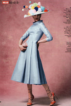 Load image into Gallery viewer, Silk Gazar Obsession Ballerina Dress in Cinderella Blue