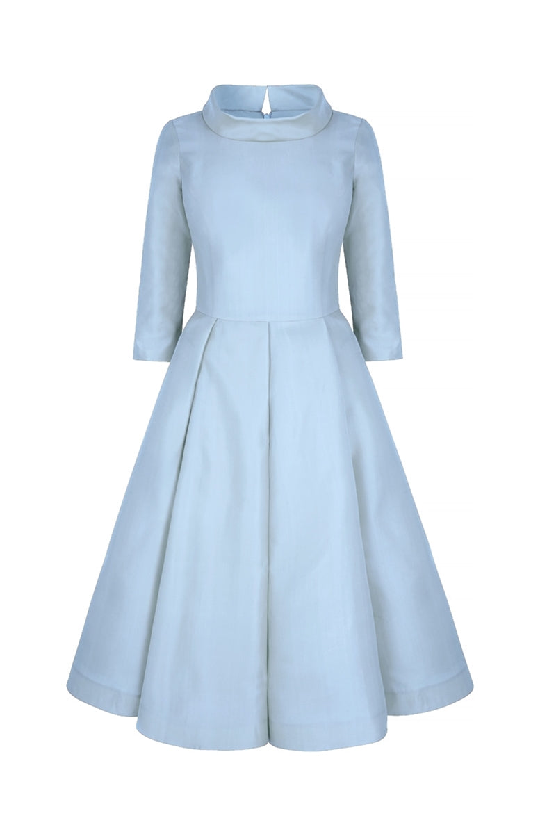 Silk Gazar Obsession Ballerina Dress in Cinderella Blue