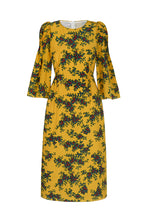 Load image into Gallery viewer, Society Dress Ochre Faraway Floral