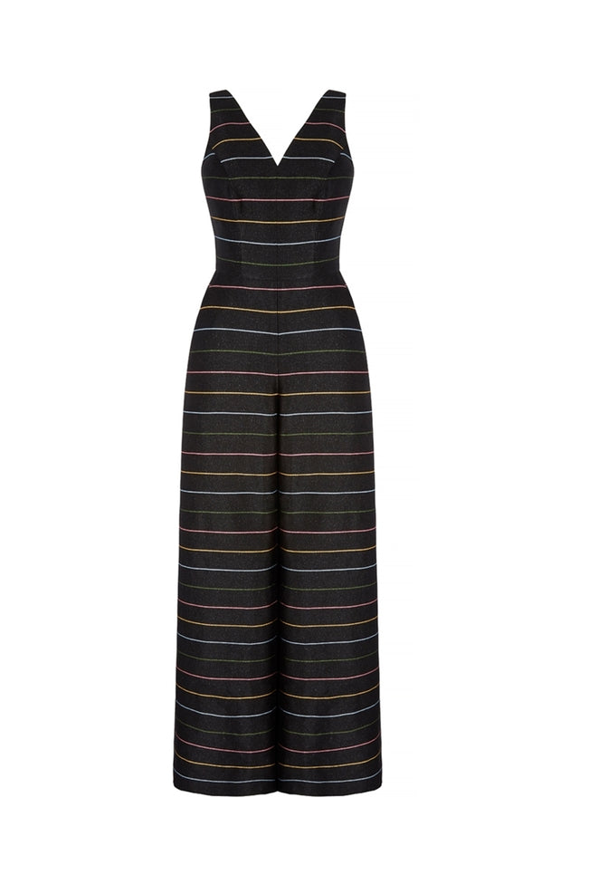 Glimmer Rainbow Stripe Tailored Jumpsuit