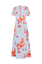 Load image into Gallery viewer, Painted Powder Poppies Silk Midi Tea Dress