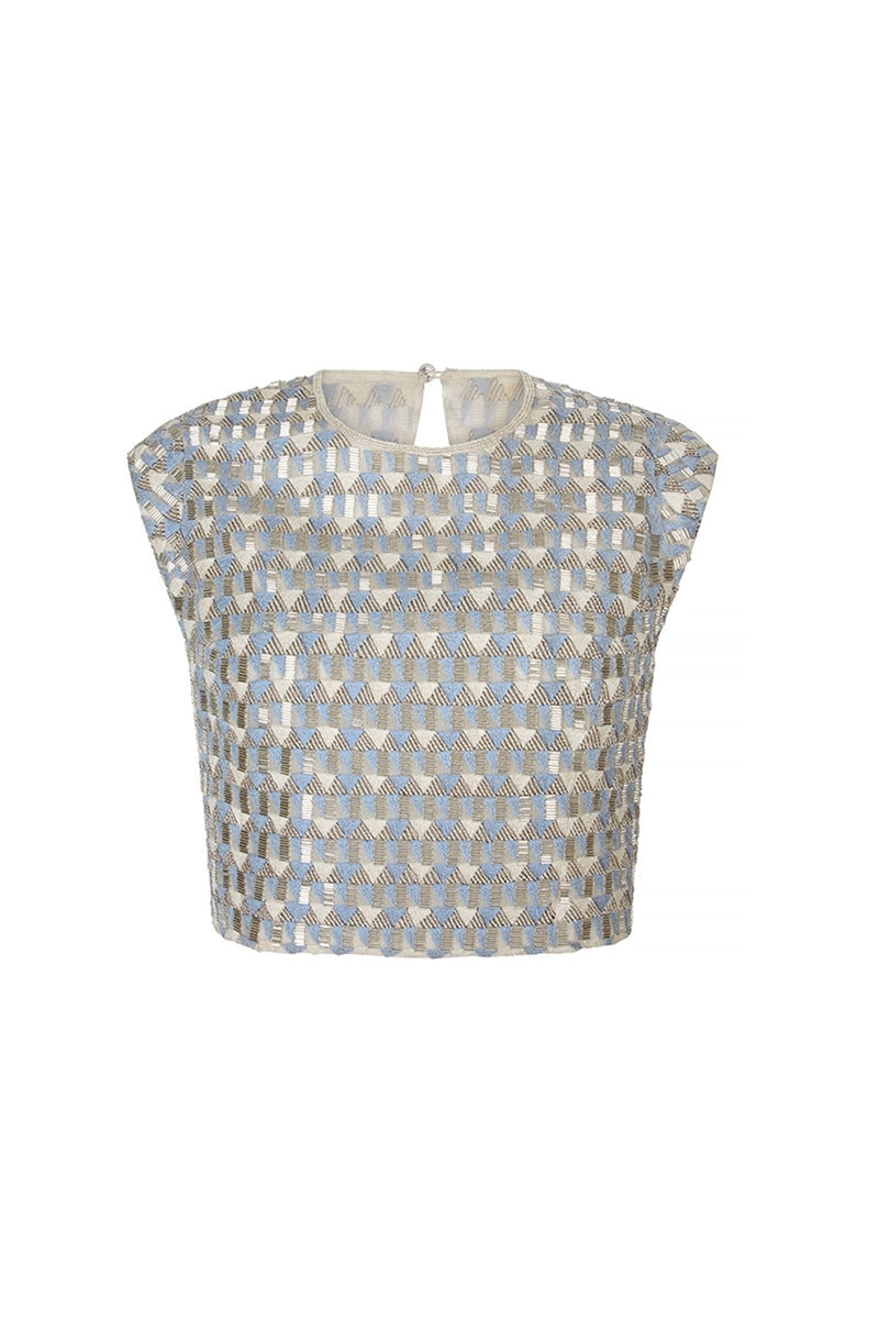Threadwork Bodice Top
