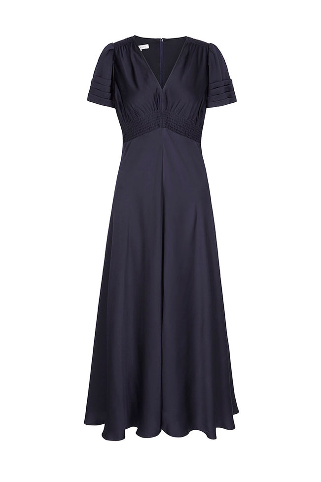 Envers Midi Tea Dress Navy