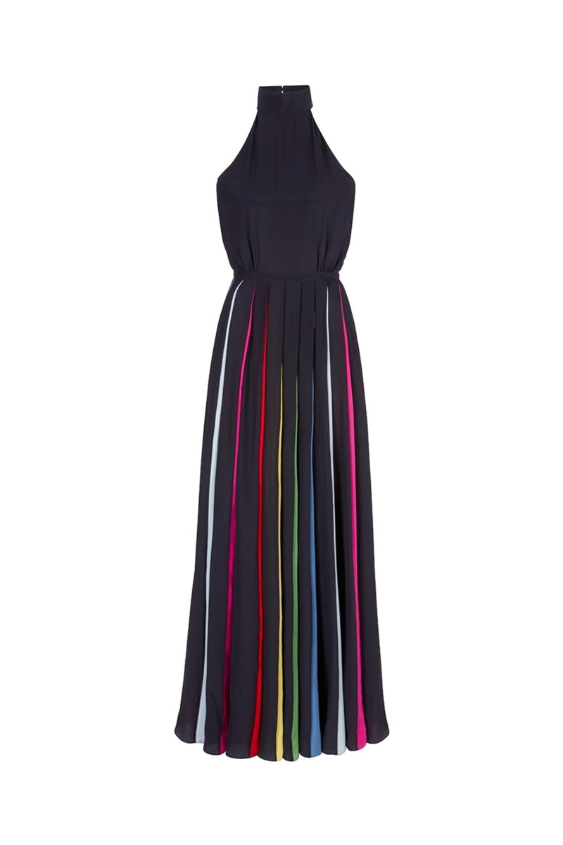 The Halter Rainbow Collins Dress