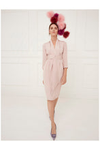 Load image into Gallery viewer, Silk crepe 1940s Influence Dress Tea Rose
