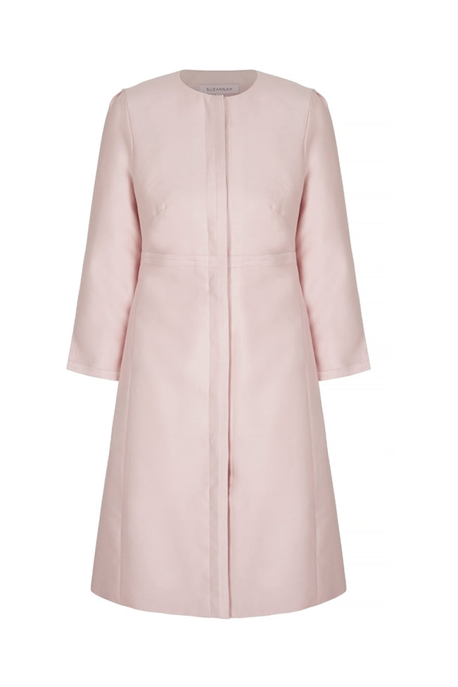 Trapeze Line Dress Coat Pink