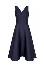Load image into Gallery viewer, V Curve Navy Cocktail Dress