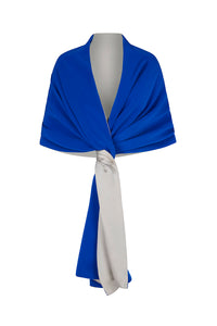 Silk Crepe Double Sided Wrap Ocean