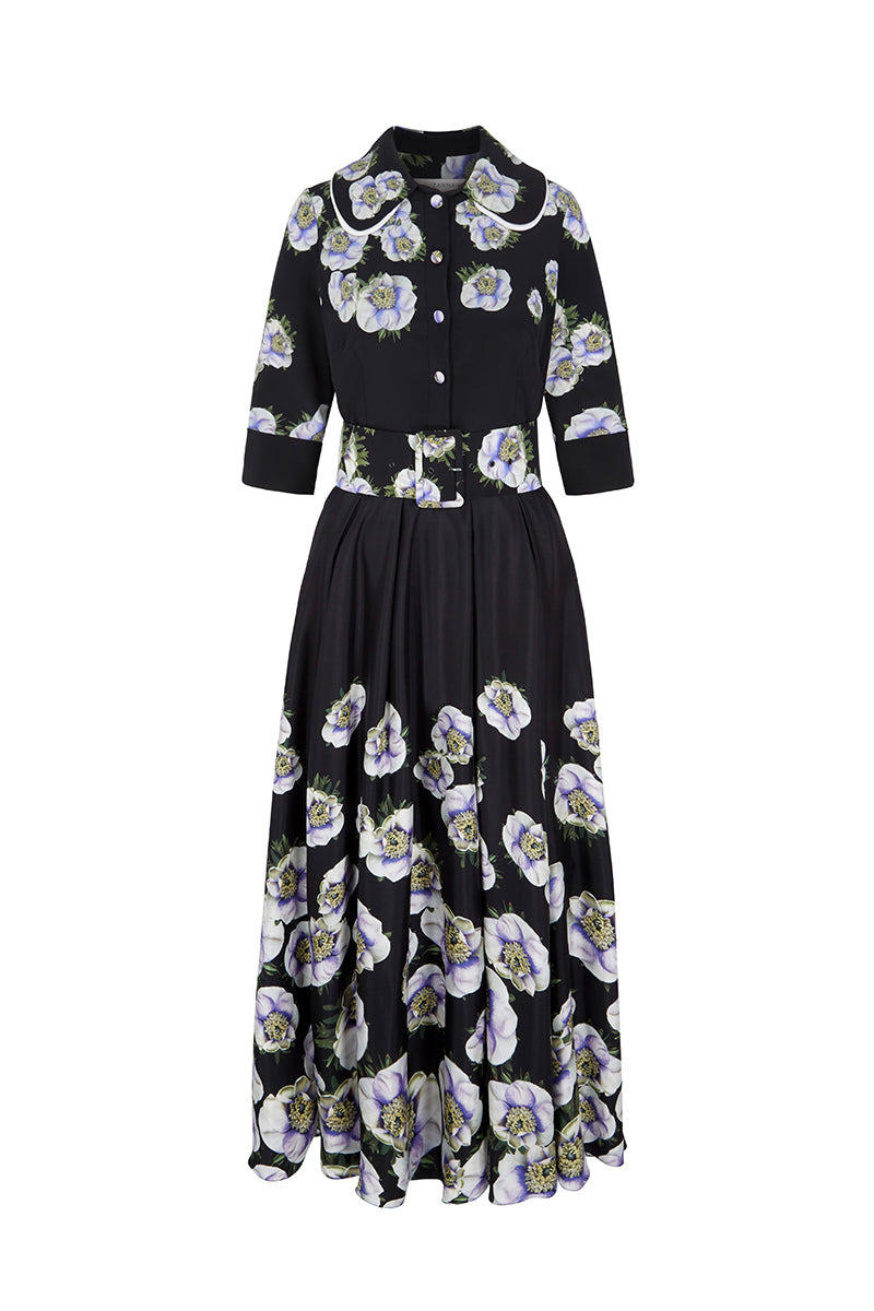 Anemone Printed Silk Dress