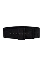 Load image into Gallery viewer, Black Suede Wide Waist Belt