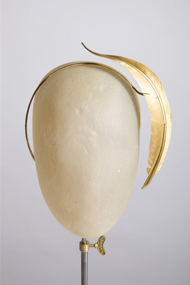 Gold Floating Feather Hair Band