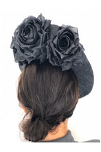 Load image into Gallery viewer, Floral Wave Hat Black