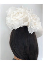 Load image into Gallery viewer, Floral Wave Hat  Ivory