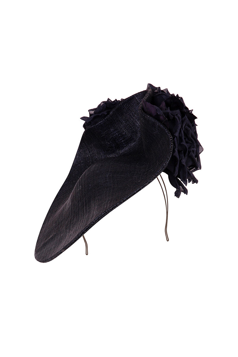 Floral Wave Hat Dark Navy