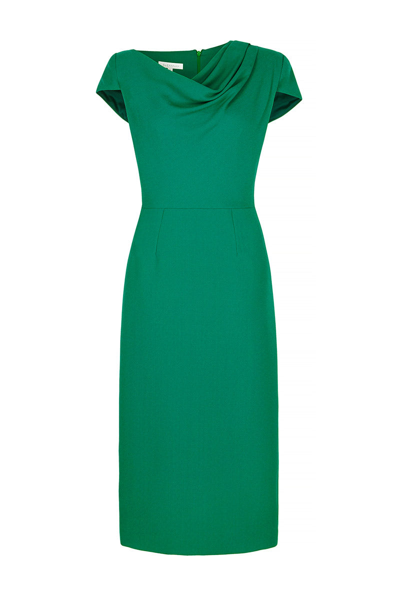 Aimee Dress Emerald Green