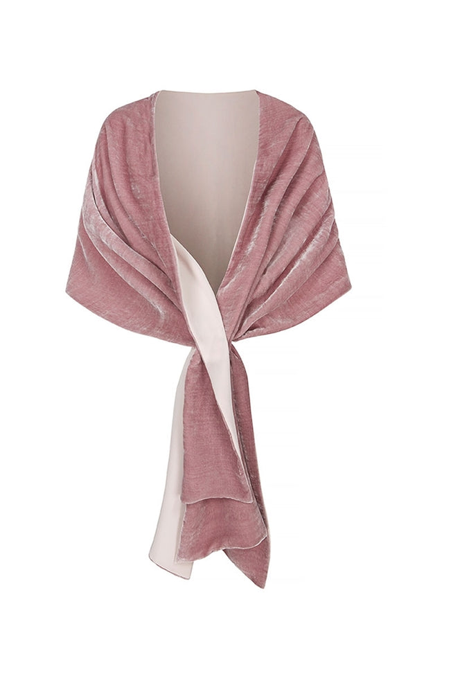 Velvet and Silk Crepe Wrap Pinks