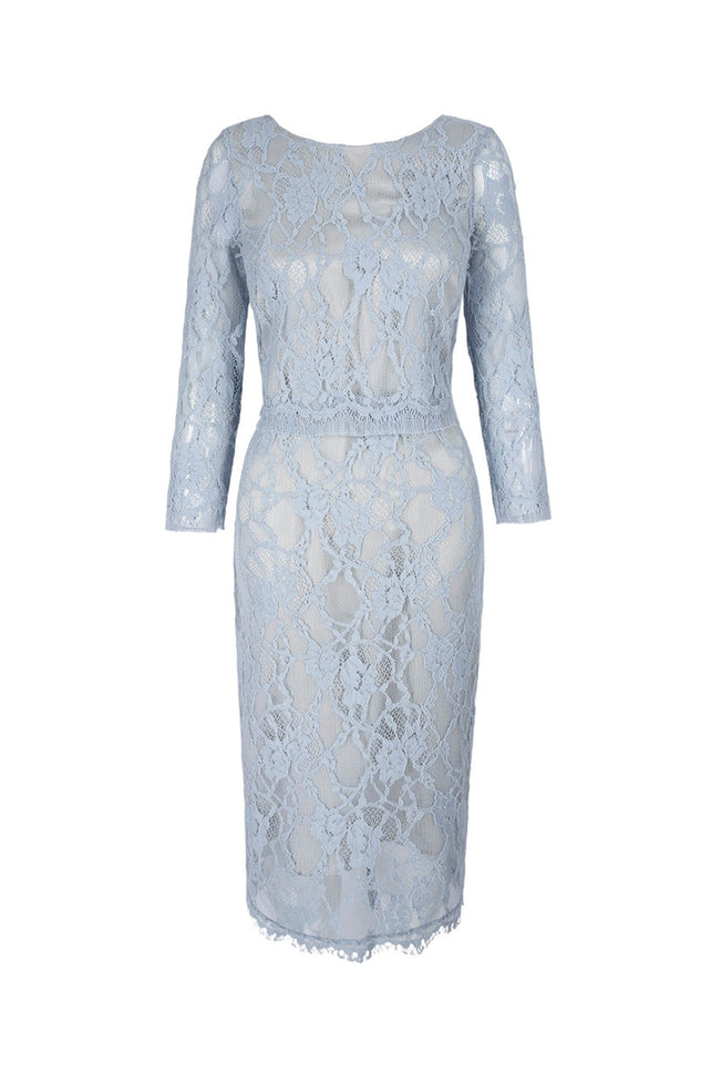 Leavers Lace Shift Alice Blue