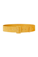 Load image into Gallery viewer, Ochre Suede Waist Belt