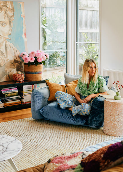 Artist Prudence Caroline's Torquay Home Is An Ode to Texture and Colour