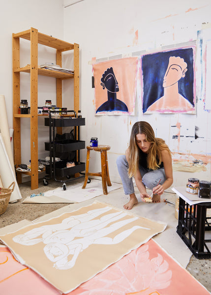 Inside the Art-Filled Paddington Terrace and Studio of Painter Hannah Carrick