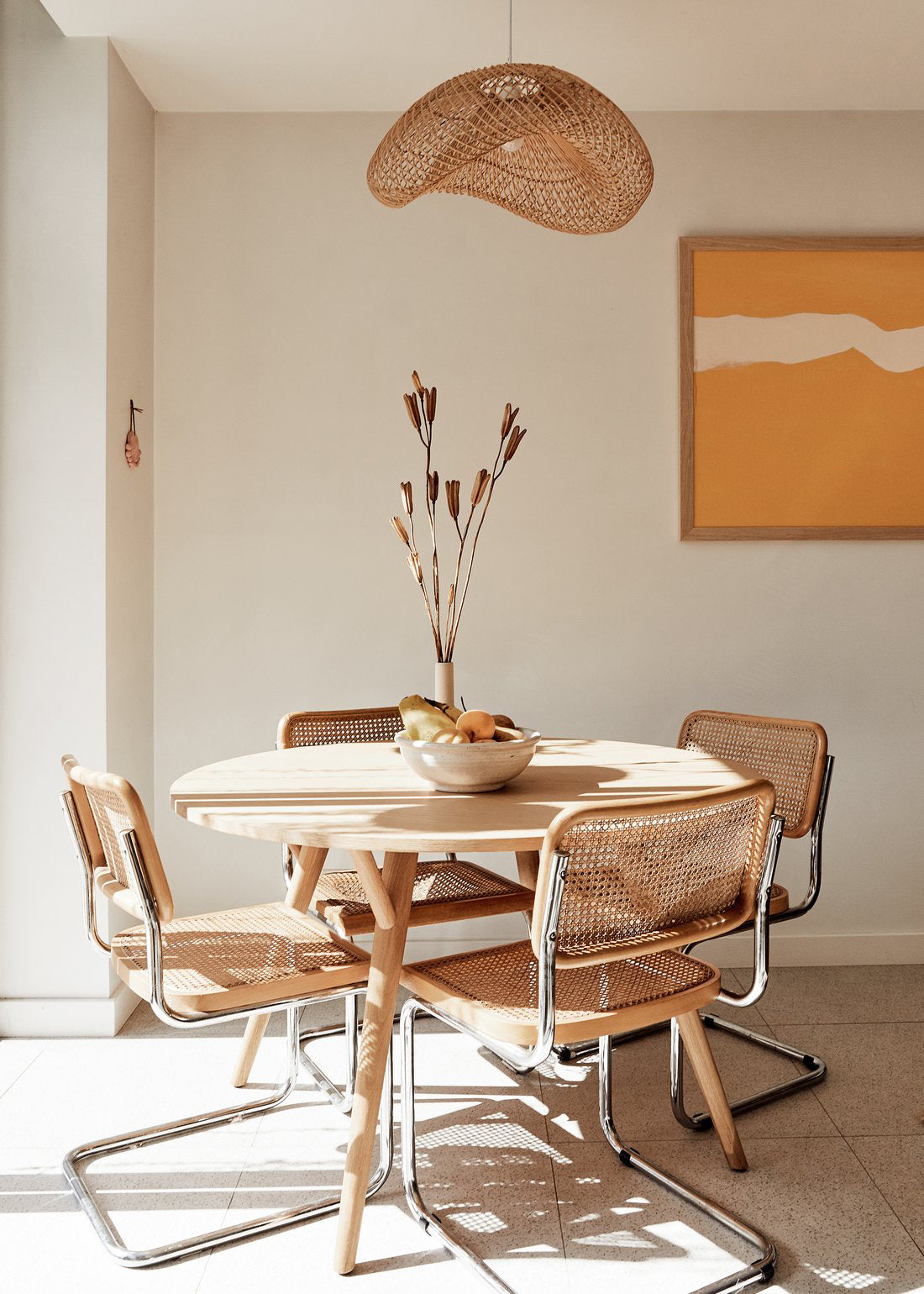 Yvonne Starr Dining Table with Cesca Chairs