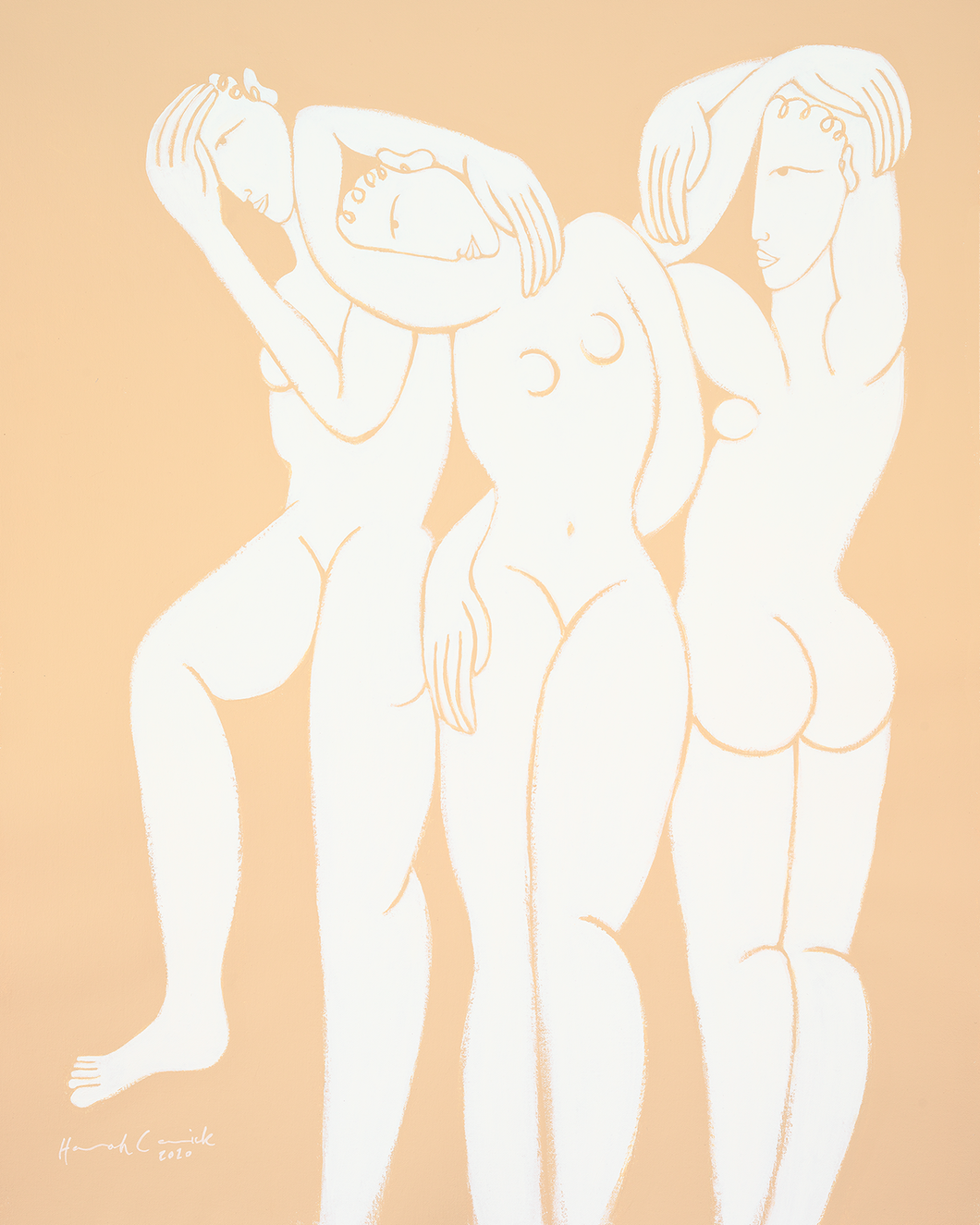 Hannah Carrick x Bed Threads 'Guuurls' Print