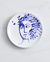 Load image into Gallery viewer, Alex and Trahanas Ceramic Plate in Blue