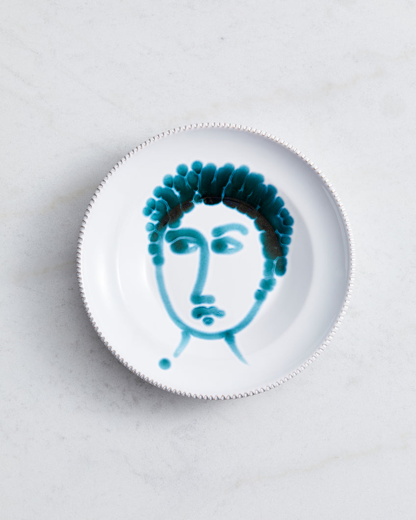 Alex and Trahanas Ceramic Plate in Emerald