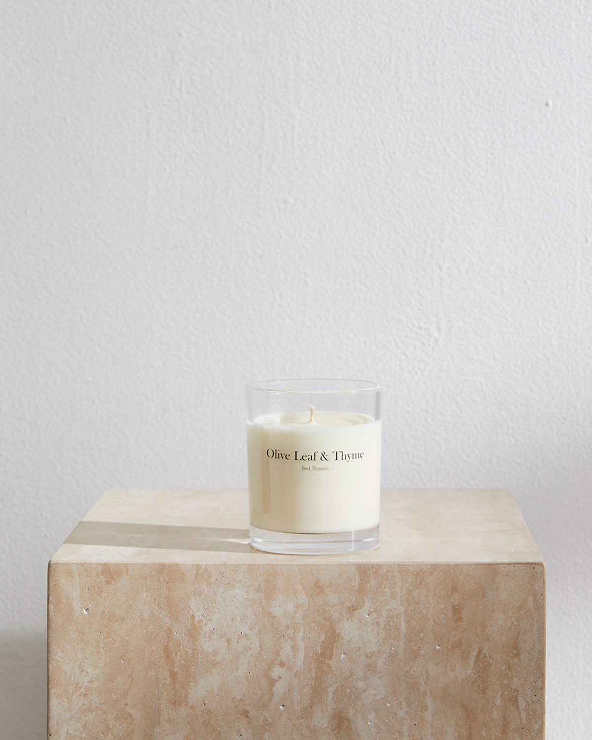 Olive Leaf & Thyme Candle by Bed Threads