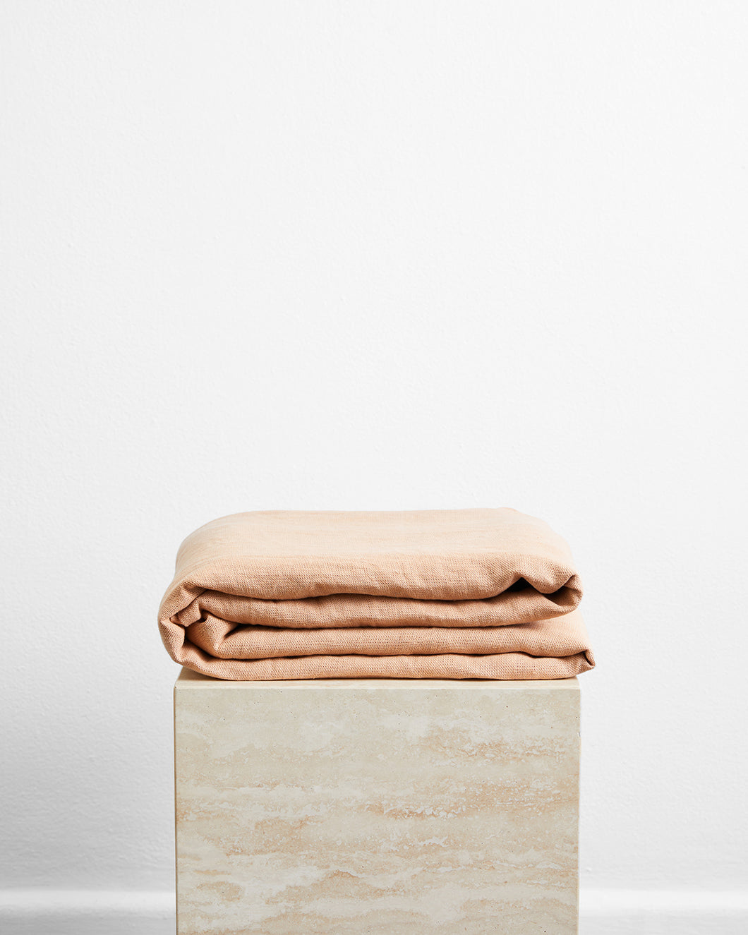 Terracotta 100% French Flax Linen Throw