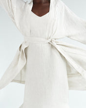 Load image into Gallery viewer, 100% French Flax Linen Robe in Oatmeal