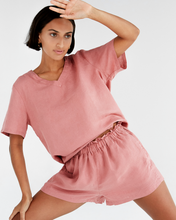Load image into Gallery viewer, 100% French Flax Linen T-Shirt in Pink Clay