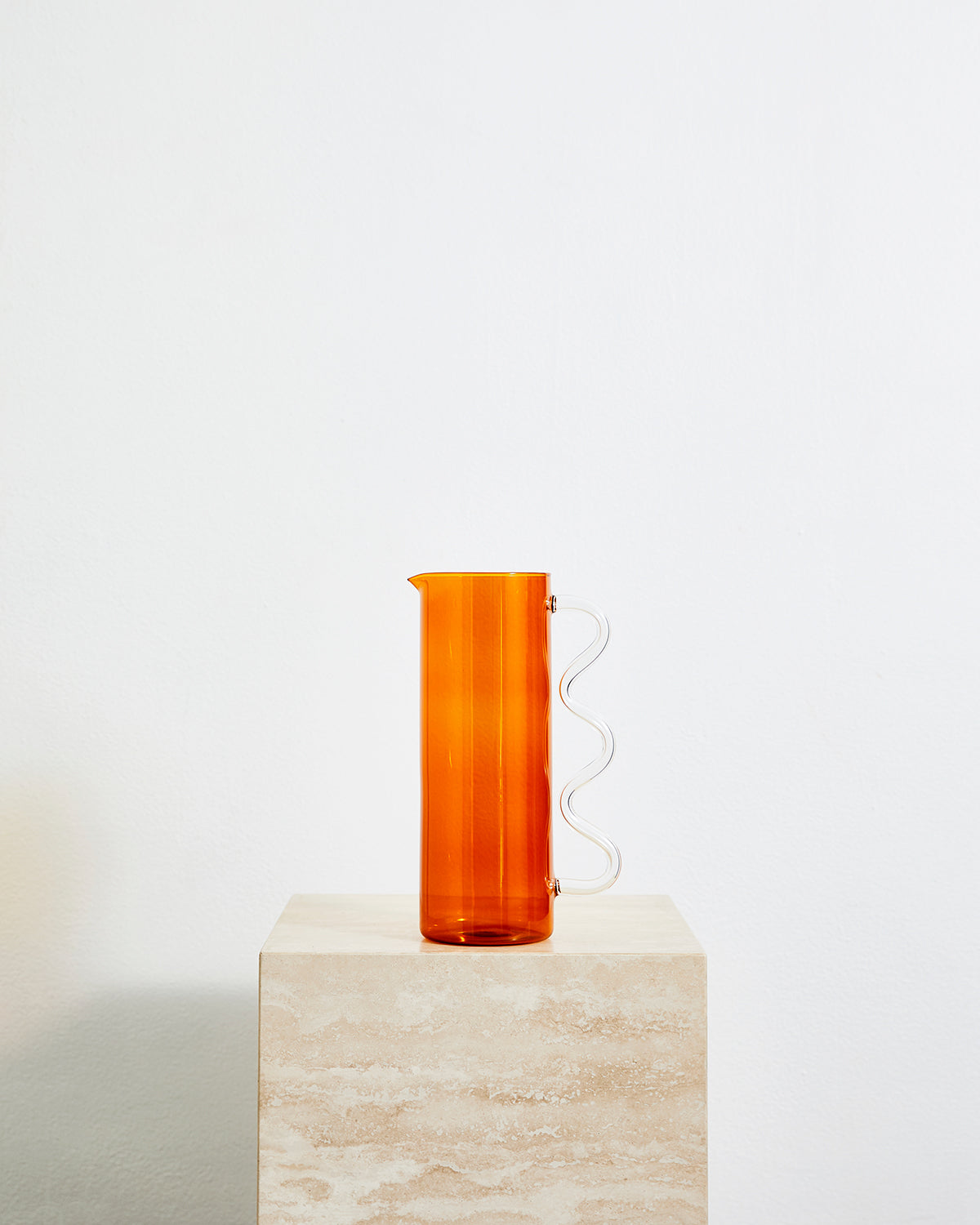 Sophie Lou Jacobsen Wave Pitcher in Amber & Clear