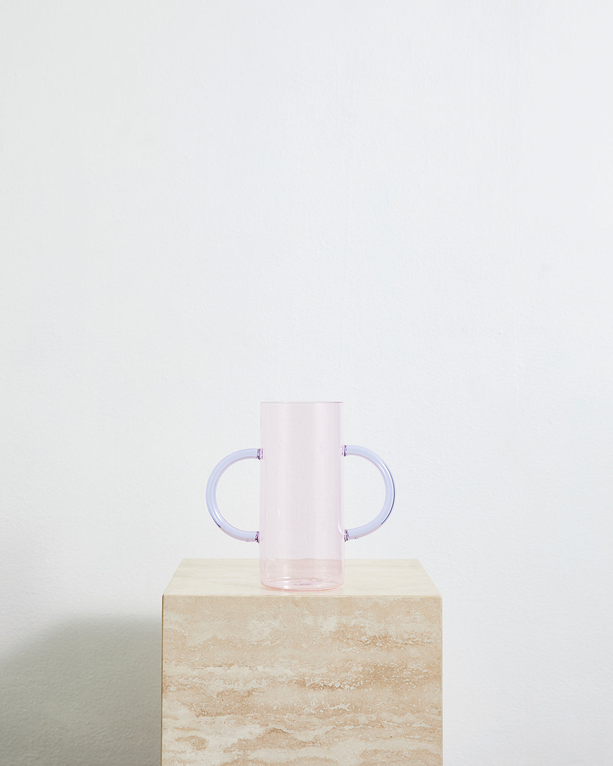 Sophie Lou Jacobsen Double Handle Vase in Pink & Purple