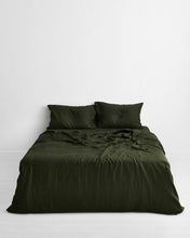Load image into Gallery viewer, Olive 100% Flax Linen Pillowcases (Set of Two)