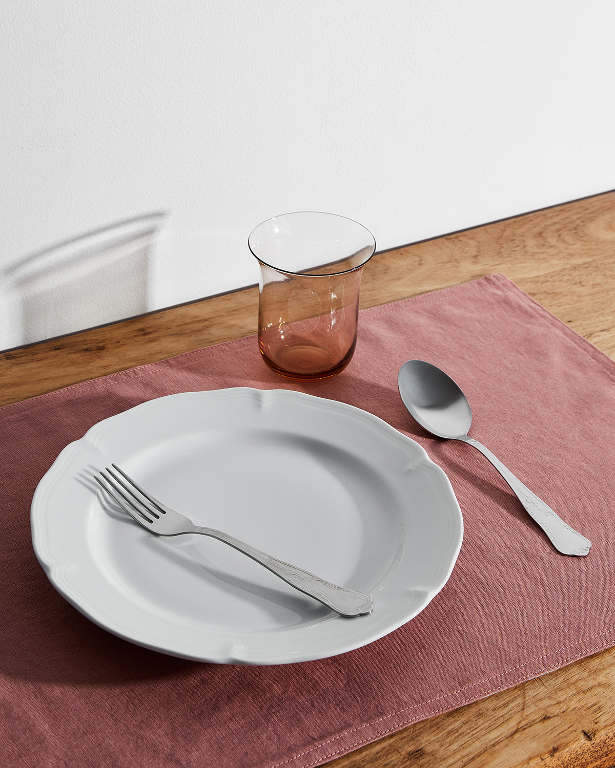 100% Linen Placemats in Pink Clay (Set of Four)