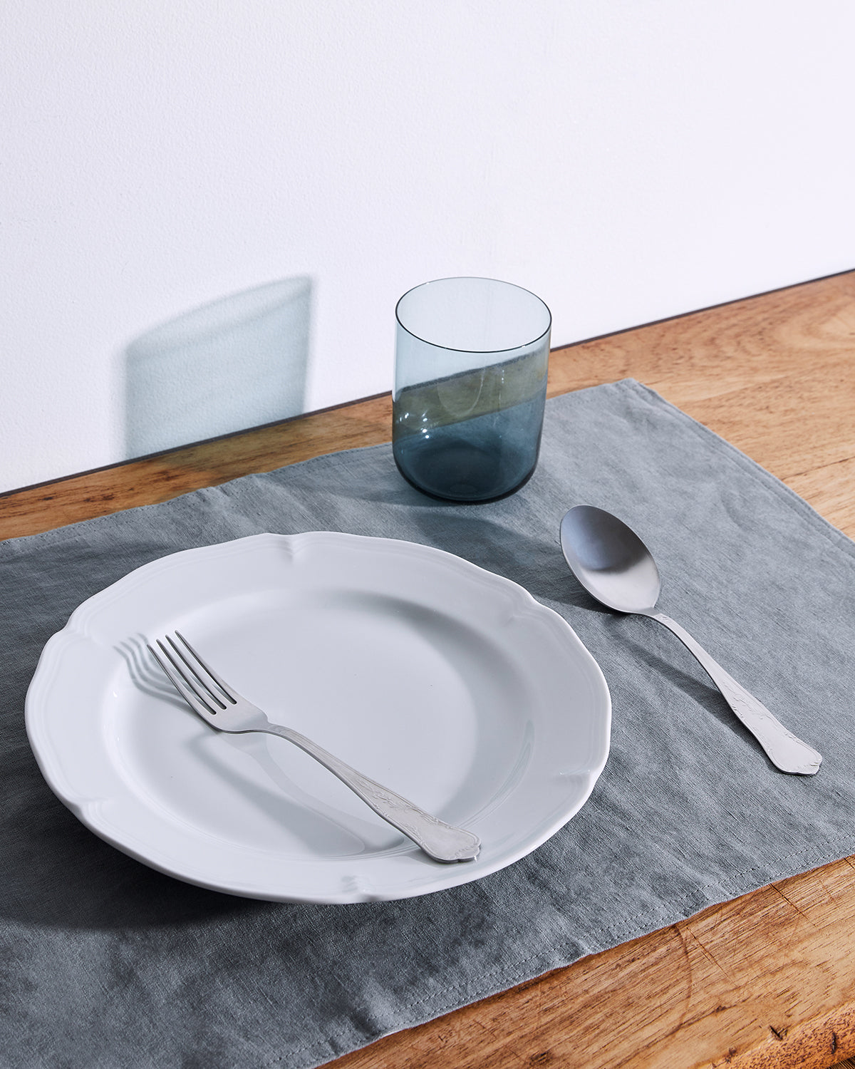 100% Linen Placemats in Mineral (Set of Four)