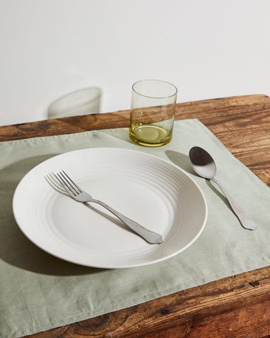 100% Linen Placemats in Sage (Set of Four)