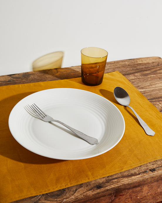 100% Linen Placemats in Turmeric (Set of Four)
