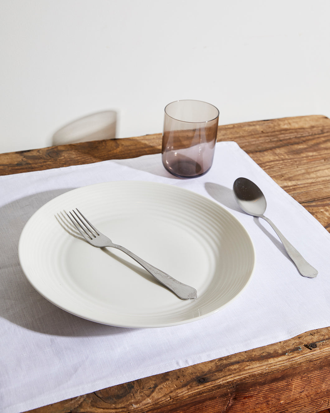 100% Linen Placemats in White (Set of Four)