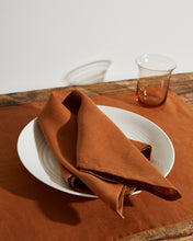 Load image into Gallery viewer, 100% Linen Napkins in Rust (Set of Four)