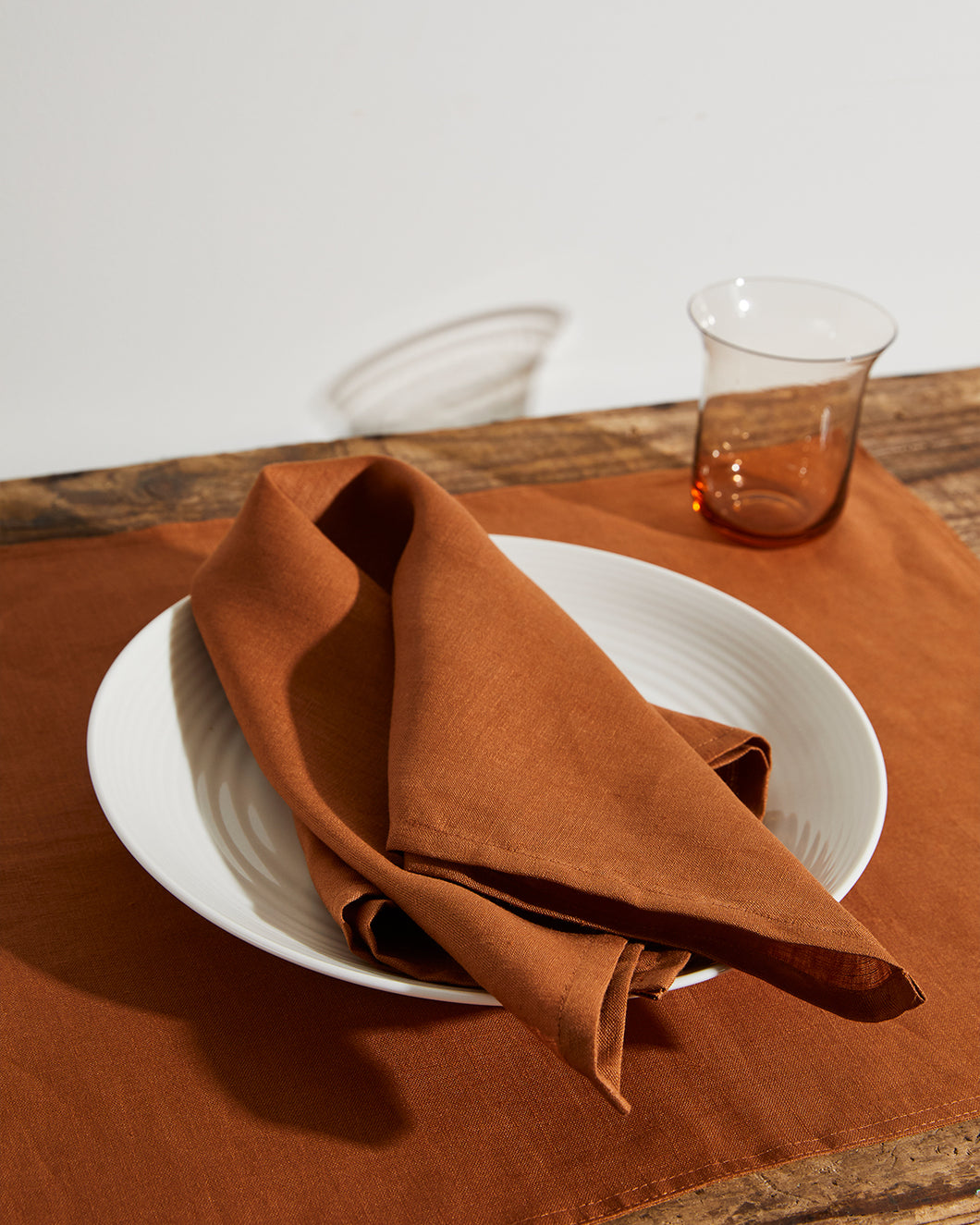 100% Linen Napkins in Rust (Set of Four)
