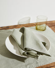 Load image into Gallery viewer, 100% Linen Napkins in Sage (Set of Four)