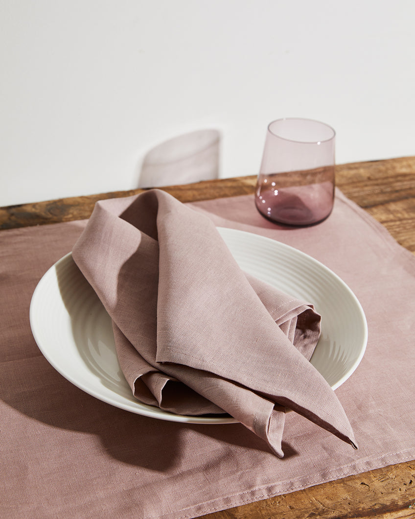 100% Linen Napkins in Lavender (Set of Four)