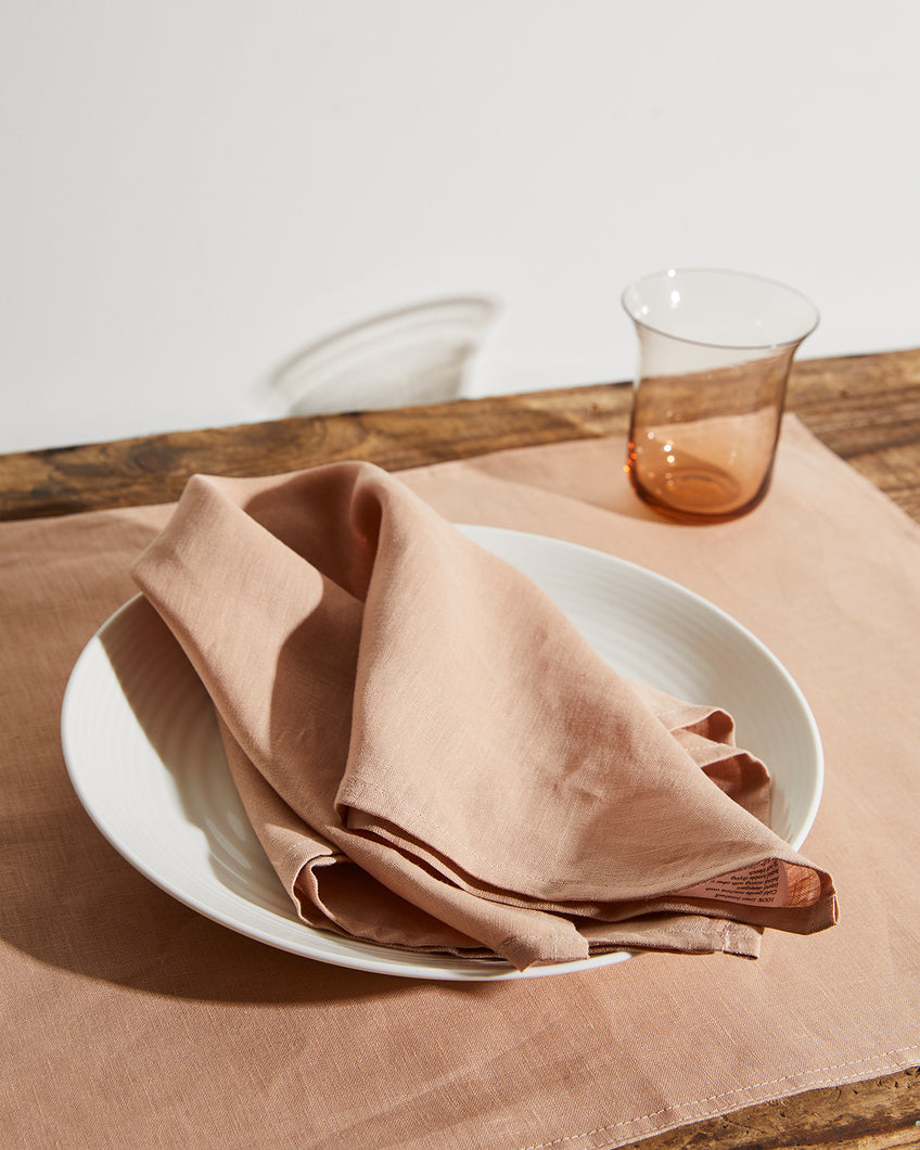 100% Linen Napkins in Terracotta (Set of Four)