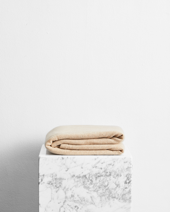 100% Cashmere Throw in Oatmeal