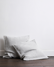 Load image into Gallery viewer, Pinstripe 100% Flax Linen European Pillowcases (Set of Two)