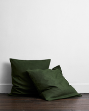 Load image into Gallery viewer, Olive 100% Flax Linen European Pillowcases (Set of Two)